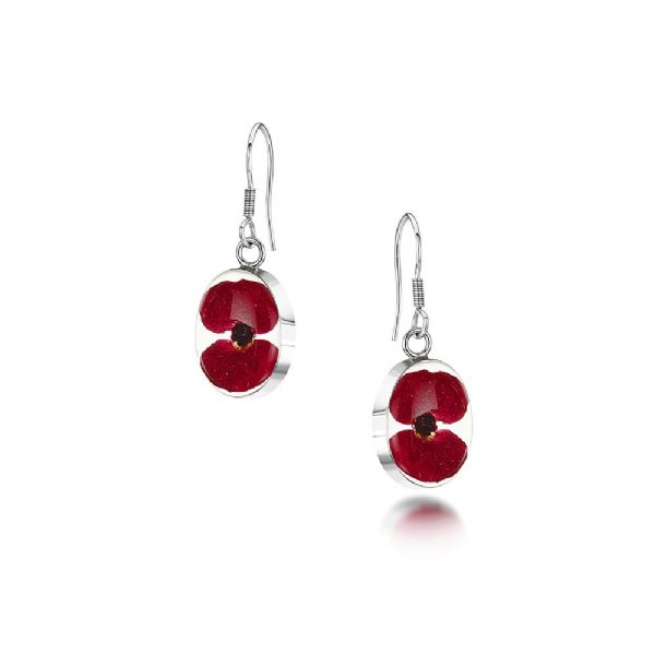 Silver Poppy Earrings